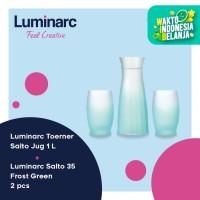 Luminarc Set Toerner & Salto - Jug 1L + 2 Pc Salto 35 Frost Green