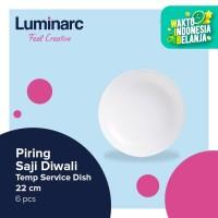 Luminarc Piring Saji Diwali - Temp Service Dish 22 cm - 6 pcs