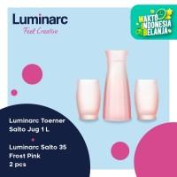 Luminarc Set Toerner & Salto - Jug 1L + 2 Pc Salto 35 Frost Pink