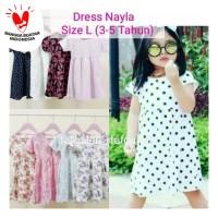 Dress Nayla L (3-5 Tahun) Baju Anak Perempuan Motif
