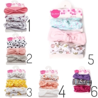 Bandana bayi bando bayi set 3in1 F headband baby newborn bandana baby