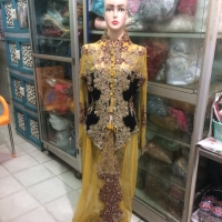 Baju pengantin adat jawa / sunda kebaya modern warna kuning