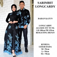 Sarimbit batik couple long cardi dan kemeja baju seragam kondangan
