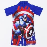 Baju renang anak laki laki swimsuit one piece diving captain america