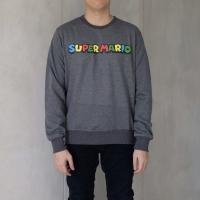 Super mario sweater baju abu polos unisex bagus murah keren