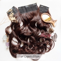 3 layer wave hair extension clip hairclip