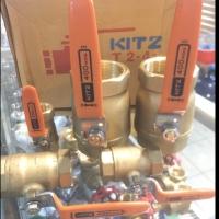 """3/4"""" Ball Valve Kitz Drat 3/4 inch - Kuningan / Brass Original Asli"""