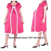 Dress hamil kerja nyaman NH 1747 bajuhamil baju hamil