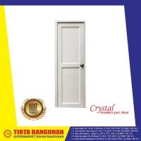 PINTU PVC CRYSTAL FULL PANEL 70X195CM PUTIH/ PINTU PVC KAMAR MANDI