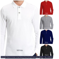 MEN Long Sleeve Polo Shirt/ Kaos Polo Pria Panjang/ Polos Panjang