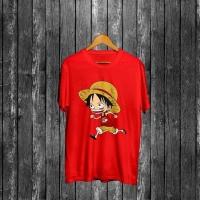 Kaos One Piece Luffy Lari 042