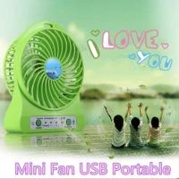 Mini Fan USB PoPower Bank Kipas Angin Mini shuangxiong SX-101