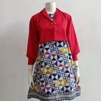 Dress batik cirebon model balero