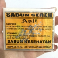 SABUN SEREH ASLI PENGHILANG JERAWAT DAN BAU BADAN EKSTRAK SUSU KAMBING