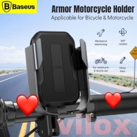 baseus armor motorcycle phone hp holder bracket mount sepeda motor