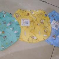 Baby Hoki/celana pop bayi newborn/motif print dasar wrn/halus adem