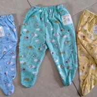 Baby Hoki/celana panjang Tutup kaki newborn/bhn katun print dasar wrn