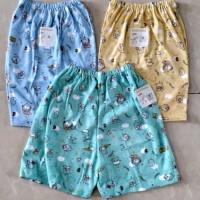 Baby Hoki/baju bayi/celana pendek/cln 3/4 bayi 3-12bln/print dasar wrn