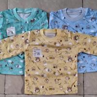 Baby Hoki/baju bayi/oblong panjang bayi 3-12bln/print dasar wrn/alus