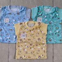 Baby Hoki/baju bayi/oblong sayap bayi3-12bulan/print warna/halus adem