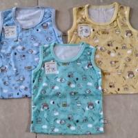Baby Hoki/baju bayi/oblong singlet bayi 3-12bulan/print wrn/katun adem