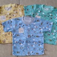 Baby Hoki/baju bayi/oblong pdk bayi 3-12bulan/print warna/katun adem