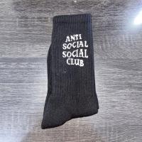 Anti Social Social Club (ASSC) Kaos Kaki Hitam(Black Socks) MIRROR 1:1