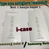 Samsung Note 8 / Note 9 anti gores belakang matte doff saja anti glare