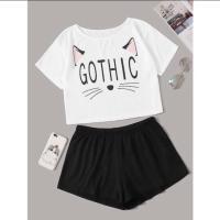 Baju tidur piyama pendek gothic