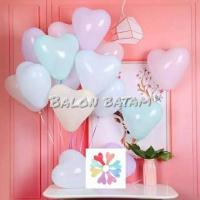 Balon latex tebal macaron / pastel bentuk hati / LOVE 10inch satuan