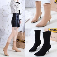 Ankle Heels Boots Wanita Fashion import