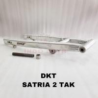 Swing arm satria 2tak DKT original non stabilizer silver