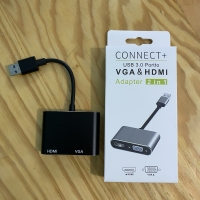 USB 3.0 To HDMI VGA Adapter Dual Output Lexcron Support Macbook