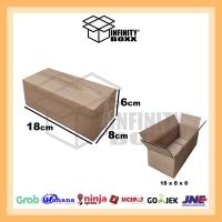 kardus box packaging packing 18x8x6 cm
