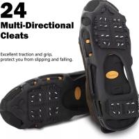 Alas Sepatu Paku Anti Slip Licin Es Mendaki Salju Karet Traveling Kit