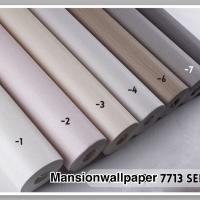 Wallpaper Dinding Murah Polos Warna pastel Soft Putih Pink Coklat Abu - PR7713-1