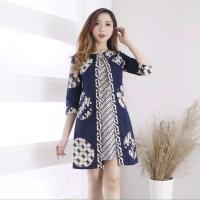 Amidala Batik Modern Dress Baju Wanita Elegan - 6505