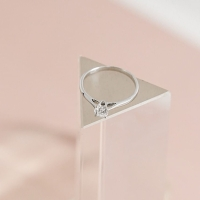 Cincin Mata satu Emas Putih berlian eropa 0,20ct