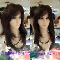 Rambut palsu 100% human hair model pamela