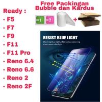 Oppo F5 F9 F11 F11Pro Tempered Glass BLUE LIGHT/Anti RADIASI/Anti Blue
