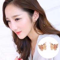 Anting Titanium Kupu Kupu Rose Gold Asli Wanita Korea Import AA001