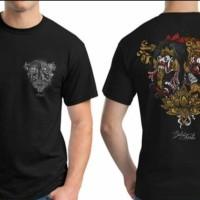 Baju bergambar barong rangda hitam