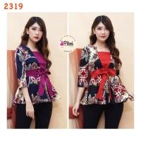 Baju Batik / Batik Wanita Modern 7/8 / atasan peplum / kantor / kerja