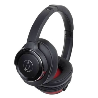 Audio Technica ATH - WS990BT Solid Bass Over-Ear Headphones Black red