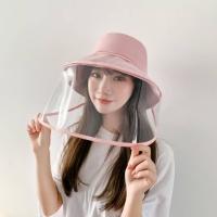 Topi anti corona dewasa termasuk transparent face shield IMPORT