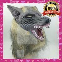 Topeng Serigala Latex/ Latex Mask Wolf/ Topeng Halloween