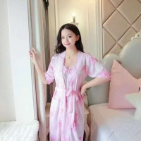 Baju Tidur Murah Kimono Set 2in1 Bunga Fit XL Bigsize Adem Murah 273