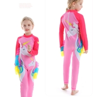 Baju renang one piece lengan panjang anak bayi unicorn import + topi