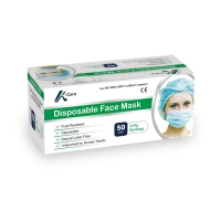 Masker disposable 3Ply with Earloop - 1 Box (50Pcs)