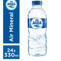 Aqua Air Mineral - Botol 330 ml - 1 dus isi 24 botol 330ml